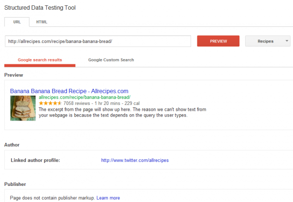 Google Yapısal Veri Test Aracı
