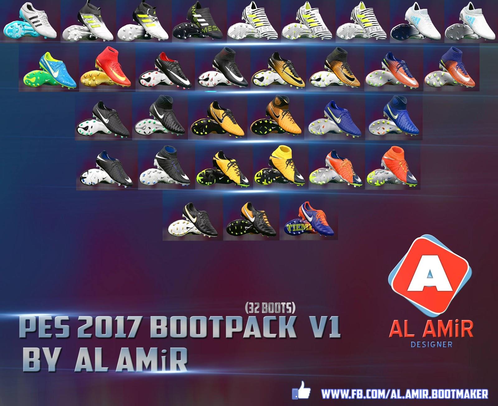 PES 2017 Bootpack 2018 V1 by AL AMiR Bootmaker