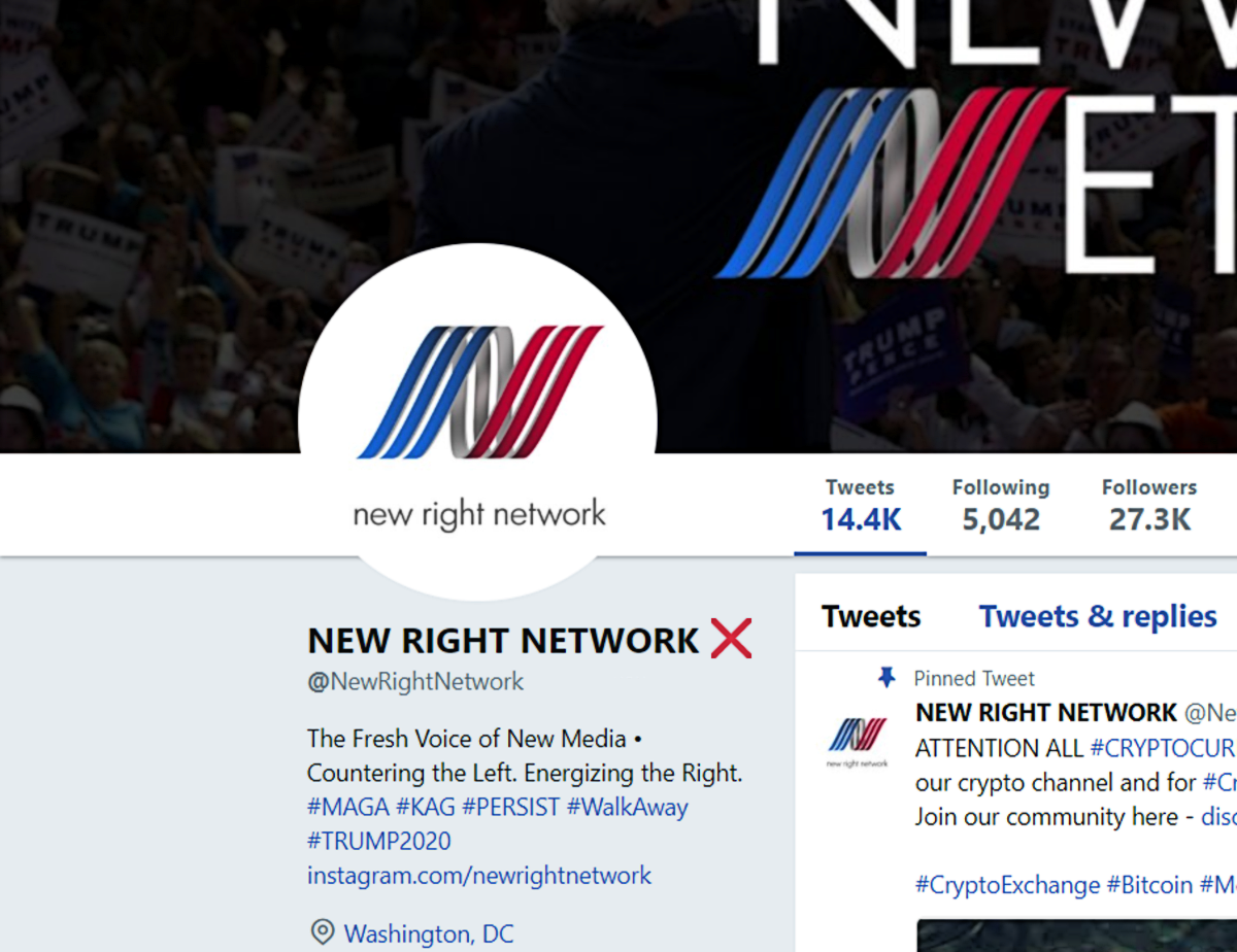 New Right Network Twitter GFD shadowban