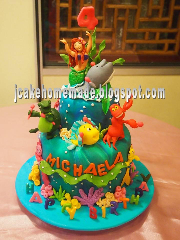 3d Wallpaper Malaysia Jcakehomemade Princess Ariel Birthday Cake