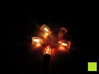 orange: Yorbay® LED Weihnachtskerzen RGB/Warmweiß mit Fernbedienung mit Timerfunktion 10-100stk (20)