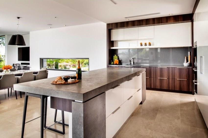 Hogares frescos moderna casa con un dise o contempor neo - Diseno casa moderna ...
