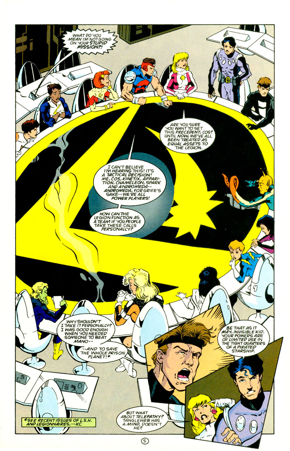 Legion of Super-Heroes (1989) 67 Page 5