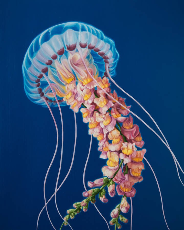 10-Jellyfish-Jon-Ching-Animal-Oil-Paintings-www-designstack-co