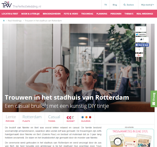 CHYMO & MORE Photography | Blog - Trouwfotograaf Bruidsfotografie Rotterdam: Featured on The Perfect Wedding | Netherlands destination photographer