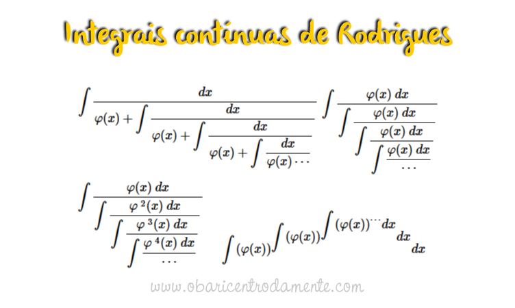 Integrais Contínuas de Rodrigues