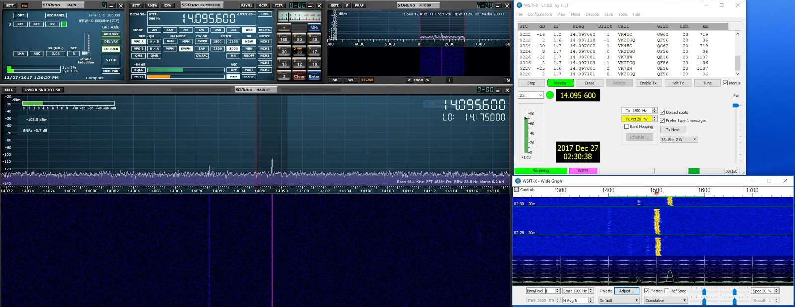 marxy's musing on technology: Decoding WSPR from an SDR on