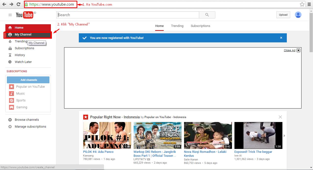 2016 Fauzan Blog Rahasia Lengkap Bermain Youtube Buat Channel Untuk Akun Andacaranya Klik My