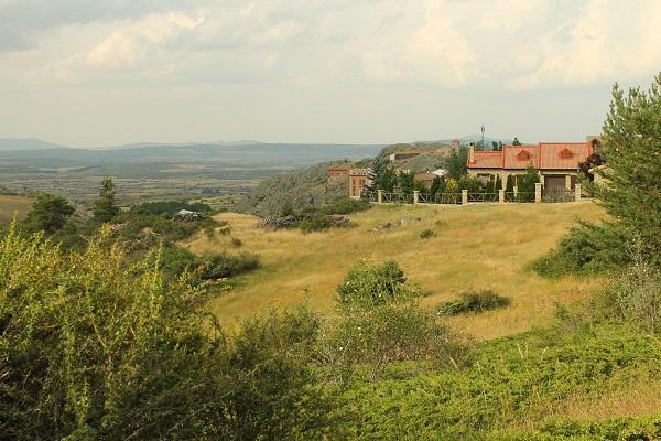 Jardín con vistas a la llanura