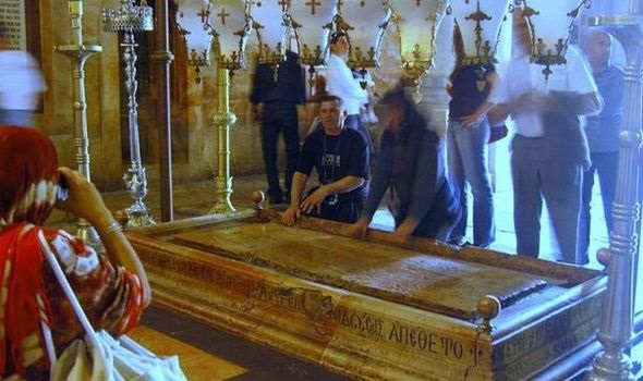 Shock as 'blood LEAKS from Jesus Christ's tomb' in Jerusalem