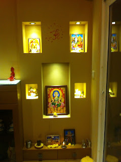 Pooja unit with lighting