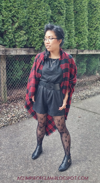 OOTD Black and Plaid Newchic Review - Andrea Tiffany aglimpseofglam