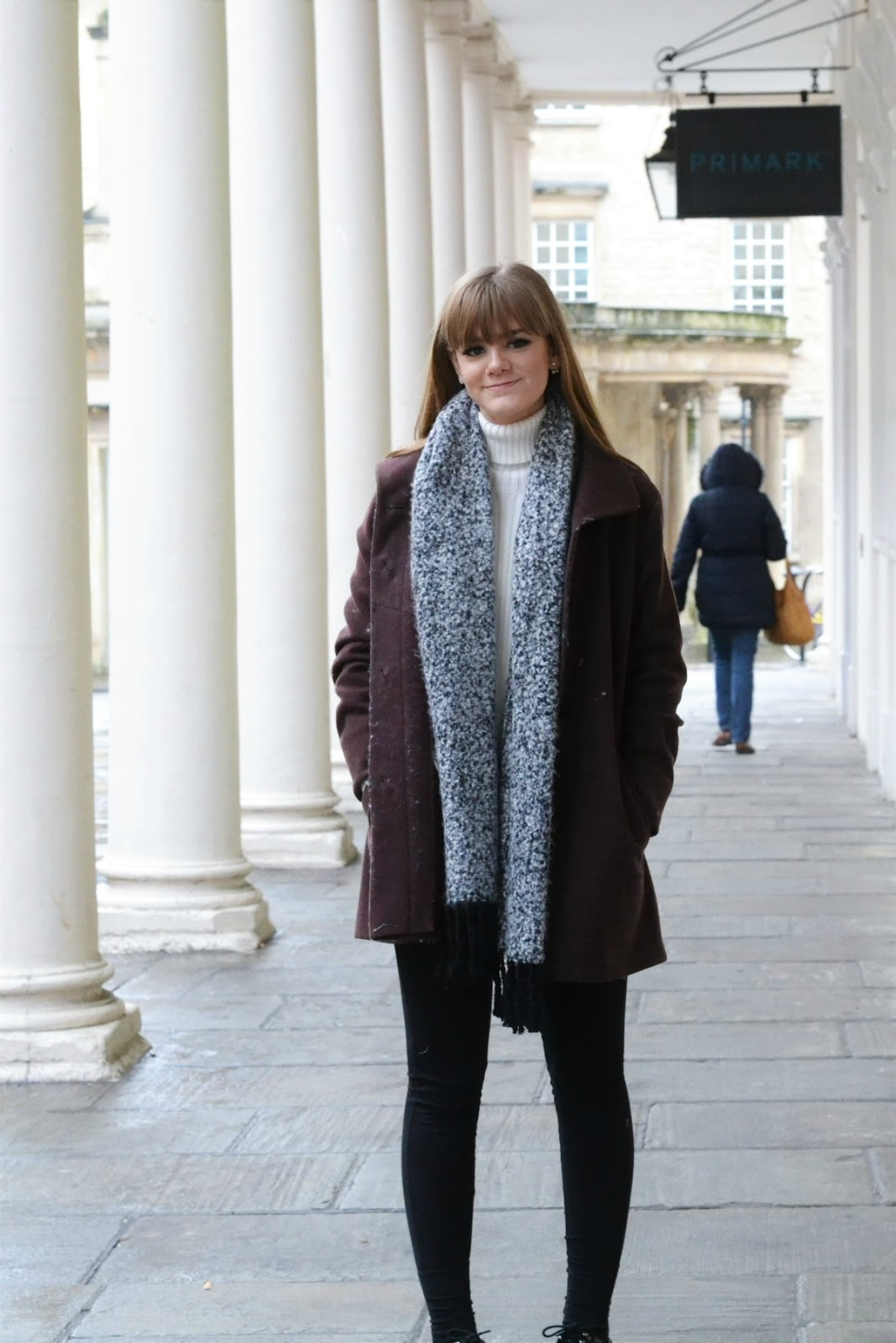 Long Burgundy Winter Coat
