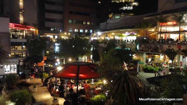 Boulevard externo do Parque Arauco