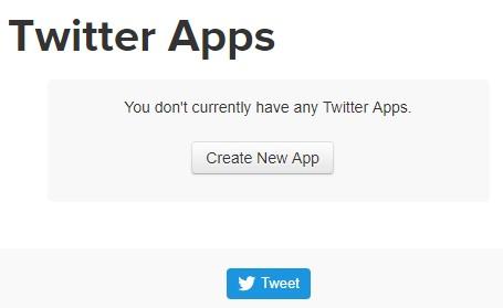 Membuat App Baru di Twitter Apps