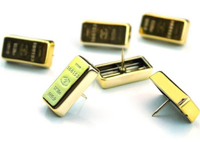 Gold Bullion Pushpins