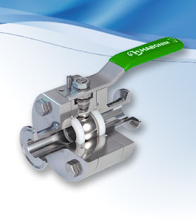 stainless steel sanitary ball valve with handle cutaway view