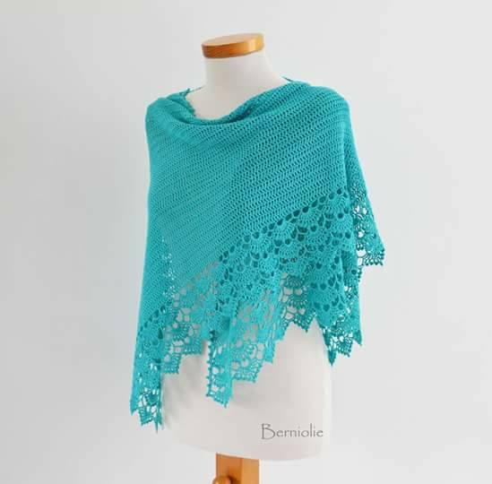 Patrón #1775: Increíble Chal a Crochet.