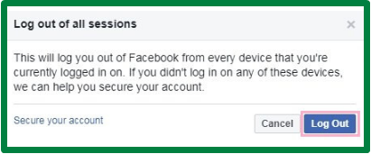 Facebook Logout All Devices