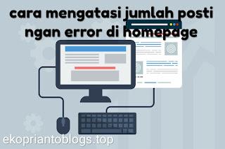 Jumlah postingan error di homepage