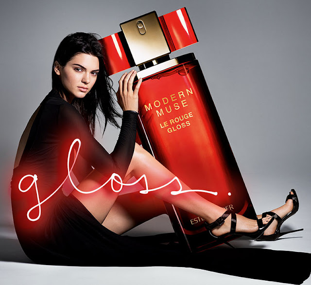 Fashion Model, @ Kendall Jenner - Estee Lauder Modern Muse Le Rouge Gloss Fragrance 2016