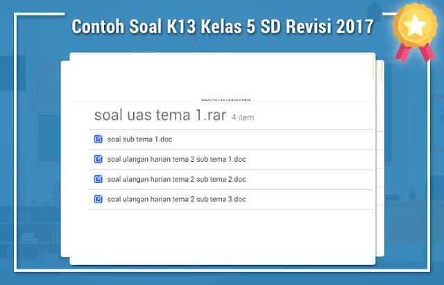 Contoh Soal K13 Kelas 5 SD Revisi 2017