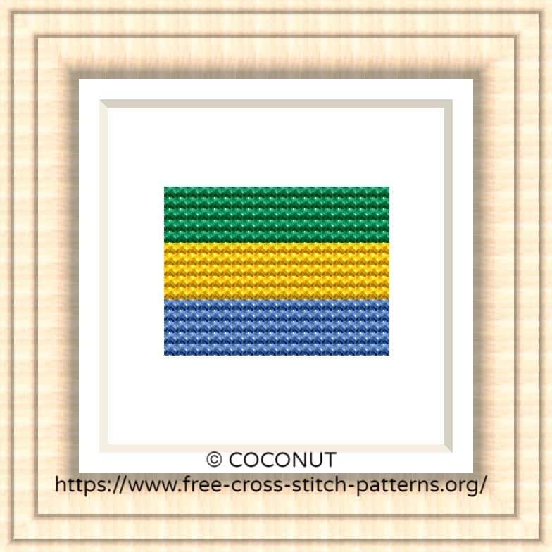 NATIONAL FLAG OF GABON CROSS STITCH CHART