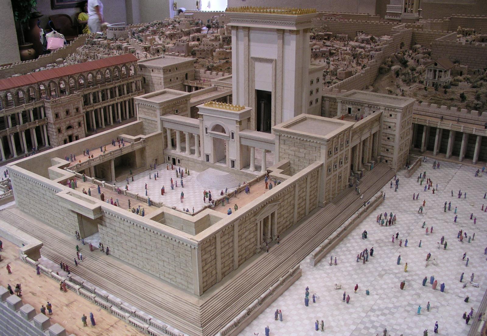 MAket dan gambaran dari Kuil nabi SUlaiman yang besar dan agung istana rahasia Crusader ordo Templar