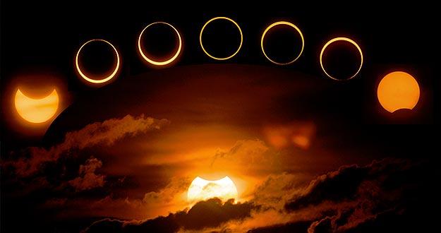 O eclipse é um fenômeno em que a Lua passa na frente do sol