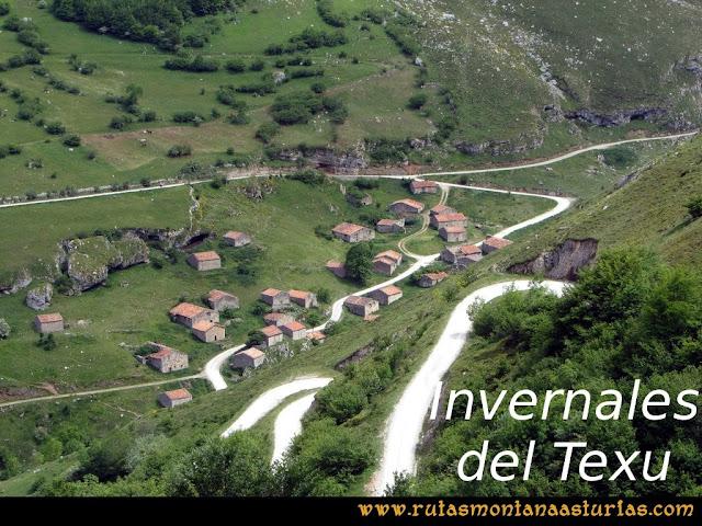Ruta Tielve Peña Maín: Invernales del Texu