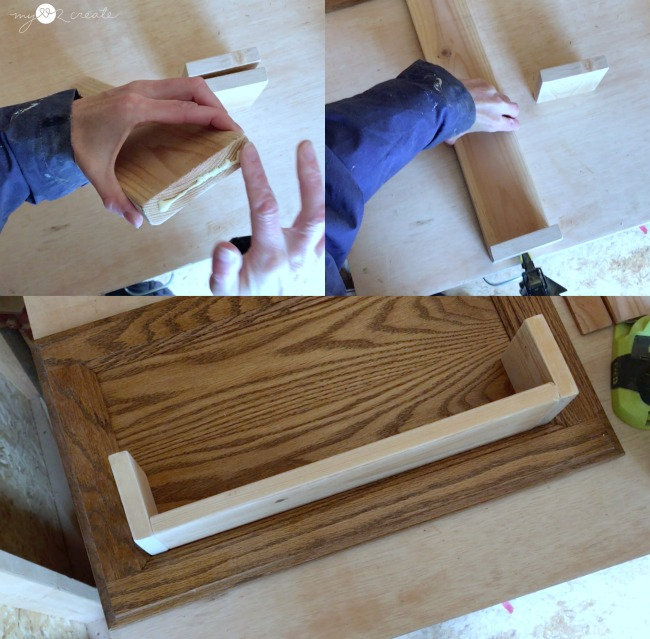 building shelf bottom and sides