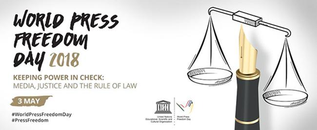 World Press Freedom Day May 3 , 2018