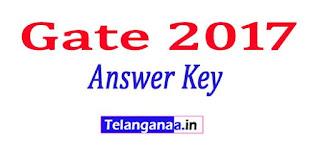 Gate 2017 Answer Key 2017