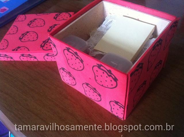DIY: Mousepad + porta-lápis + caixinha | Home Office decor - Tamaravilhosamente