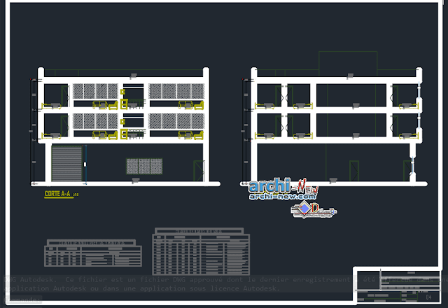 Living place in AutoCAD