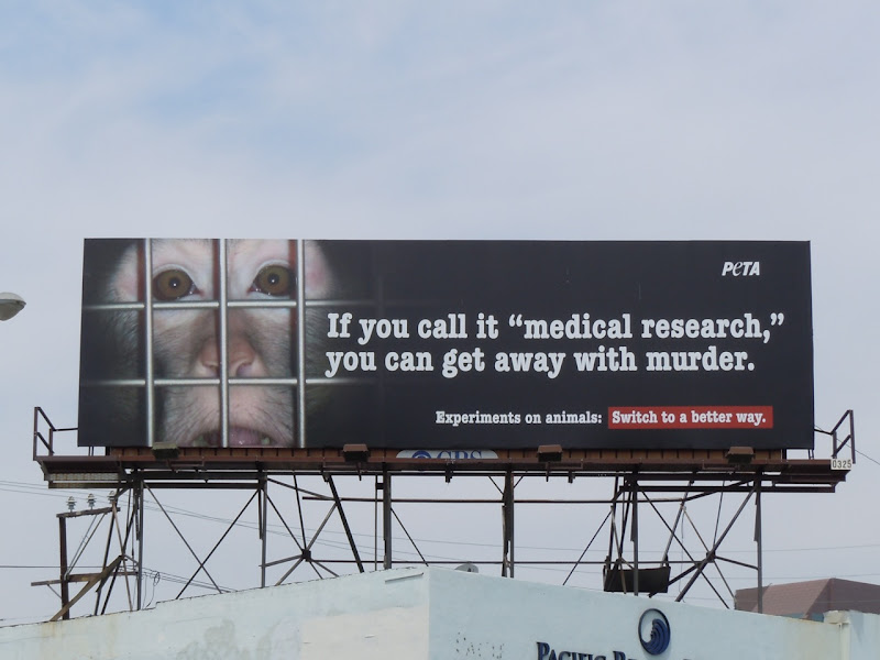 PETA monkey murder billboard