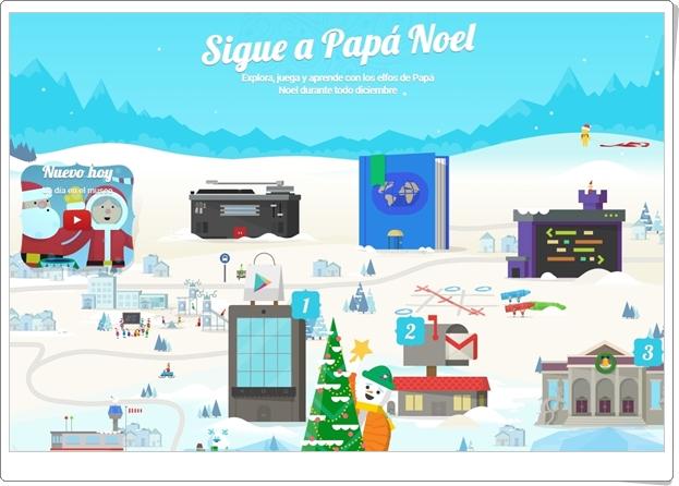 """""""Sigue a Papá Noel con Google"""" (Juegos de Navidad  2017)"""
