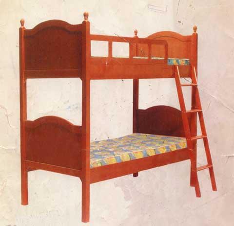 tempat tidur tingkat anak jati