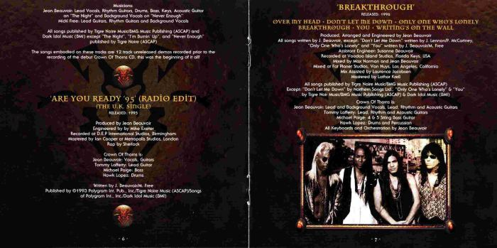 CROWN OF THORNS - Crown Jewels [3-CD Frontiers Music career span remastered] booklet
