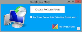 Quick Restore Maker Portable