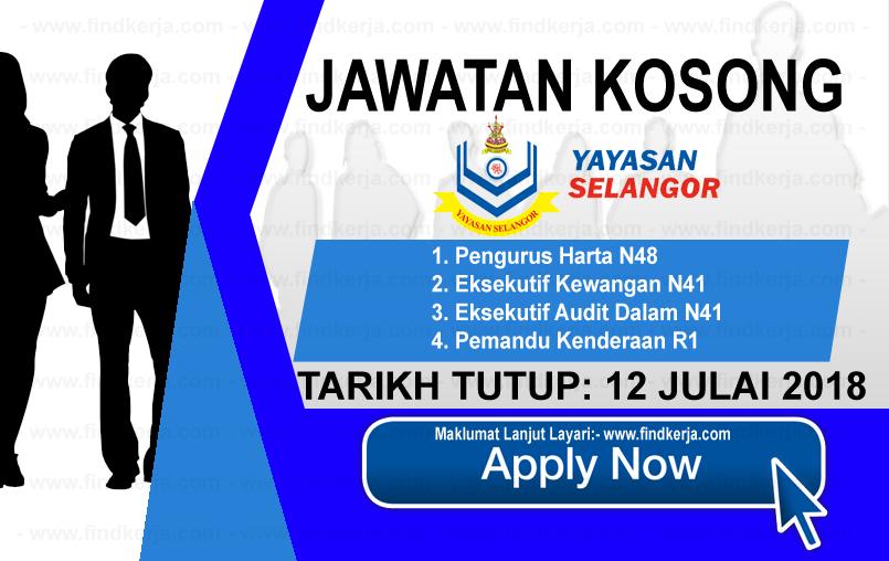 Jawatan Kerja Kosong Yayasan Selangor logo www.findkerja.com www.ohjob.info julai 2018