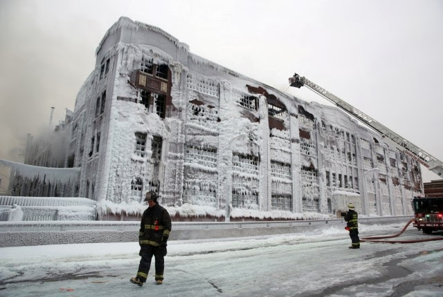 Firefighters Turn Massive Warehouse Blaze Into Ice Overnight!