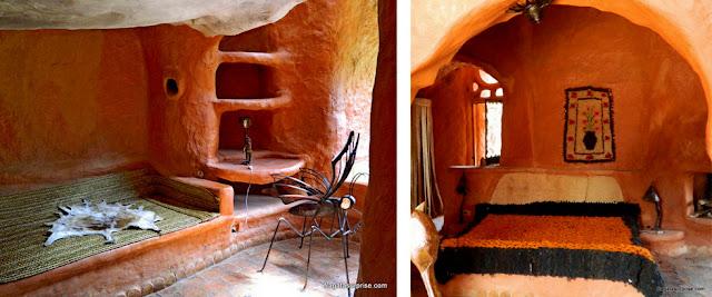 Dormitórios da Casa Terracota, em Villa de Leyva, Colômbia