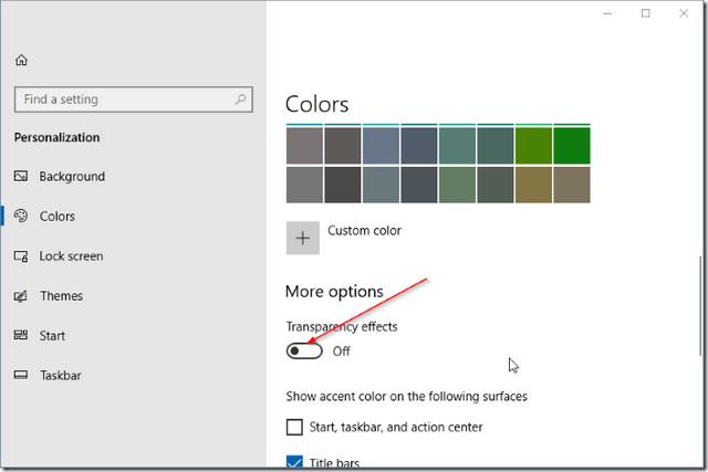 كيفية تمكين أو تعطيل ميزة التصميم المطلق Fluent Design في ويندوز 10