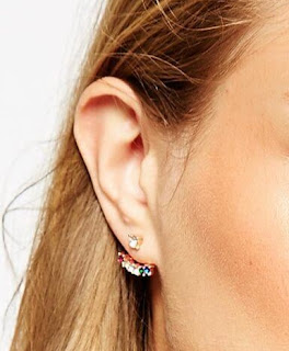 Rainbow Swing Earrings Ear Jackets ASOS Multi-coloured