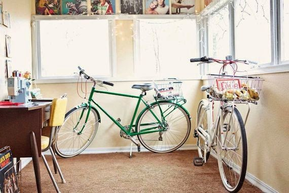 la bicicleta en la decoración
