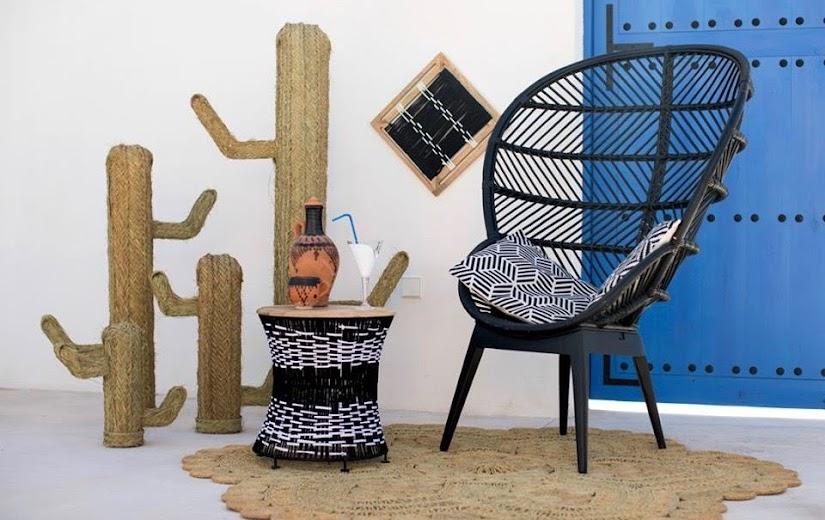 Cactus decorativos de esparto