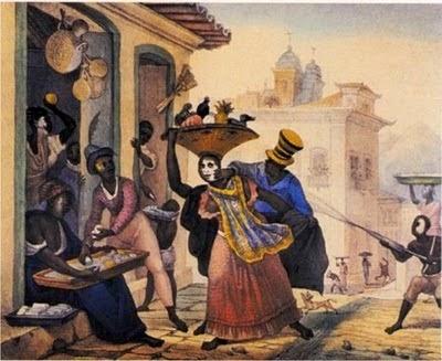 Cenas do Carnaval  - Debret, Jean-Baptiste  ~ Pinturas do Brasil colonial