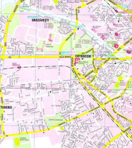 Bucharest center map