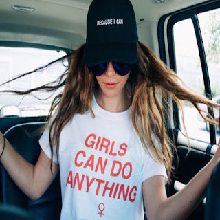 GIRLS CAN DO ANYTHING with Venus Female Symbol tee shirt. PYGear.com